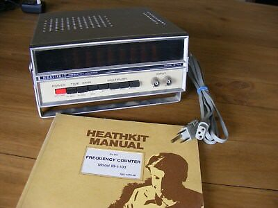 VINTAGE HEATHKIT FREQUENCY COUNTER IB-1103 w 8 WORKING NUMERIC NIXIE TUBES