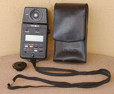 Minolta Auto Meter III F Light Meter w/case for Flash and Ambient Light IIIF