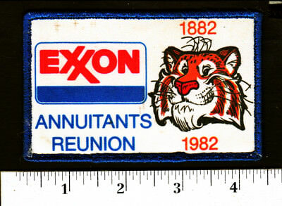 1982 Exxon Gas/Oil Annuitants Reunion (Tiger) Embroidered Hat/Shirt Patch..#669t