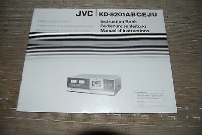 JVC KD-S201 A Cassette Tape Deck Original Manual Instructions Book