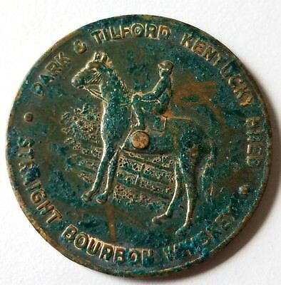Park & Tilford Kentucky Bred Straight Bourbon Whiskey Inner Token Coin Medal
