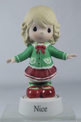 Precious Moments 'Giirl-Naughty And Nice' Figurine On Stand #161024 New In Box