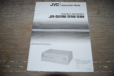 JVC JR-S81 M W H Stereo Receiver Original Manual Instructions Book