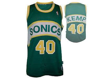 adidas Basektball Jersey Seattle Supersonics #40 Shawn Kemp NBA Shirt grün Gr.S