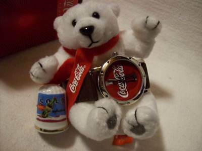 Coca Cola Watch & Polar Bear + Thimble