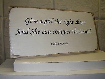 Shabby Chic Marilyn Monroe Quote. Plaque , Sign.100% Solid Wood. Beautiful Gift.