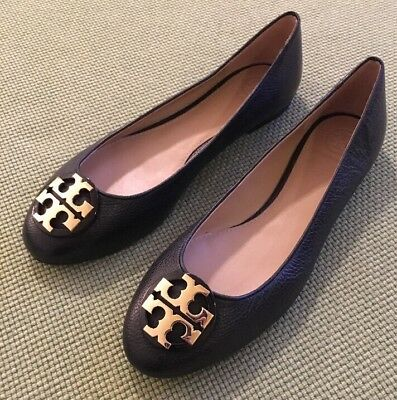 84ef45aa63c TORY BURCH RARE Black Claire Flats NEW Sz 8.5 Retail  250 SOLD OUT ...