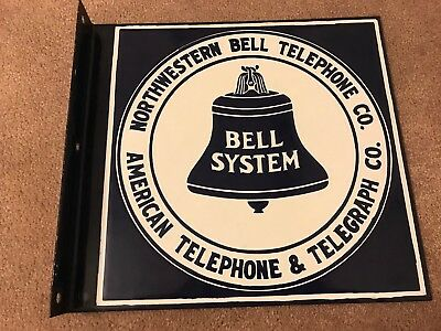 Northwestern Bell Telephone Porcelain Sign
