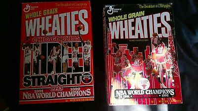 1991-1992-1993  Vintage Wheaties Cereal Chicago Bulls World Champions