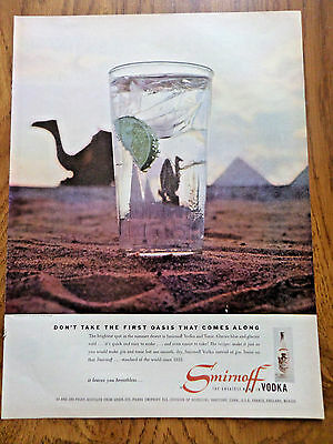 1956 Smirnoff Vodka Ad  Don't Take the 1st Oasis That Comes Along Egypt Photo