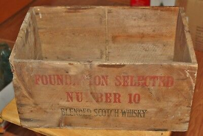 Vintage Wood Foundation Selected Scotch Box/Crate Number 10 Scotland