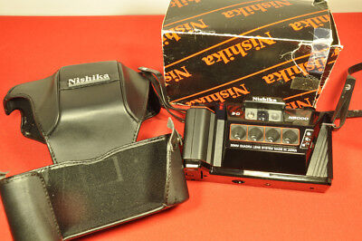Nishika N8000 35mm Quadra lens Lenticular Stereo 3D Camera with Case and Box