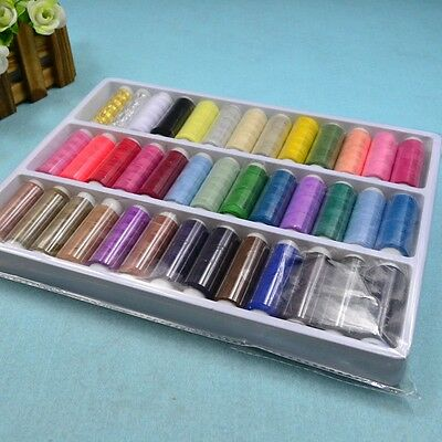 200yds Home DIY Polyster Threads Sewing Machine Achine Cotton Assorted House Hot