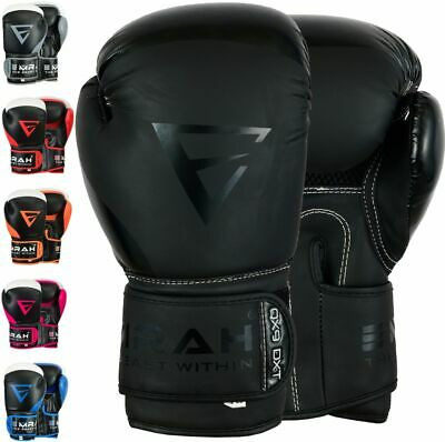 EMRAH Leather Boxing Gloves Sparring UFC Training MMA Punching Cage Fighting