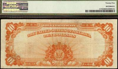 LARGE 1922 $10 DOLLAR BILL GOLD CERTIFICATE COIN NOTE PAPER MONEY Fr 1173 PMG VF