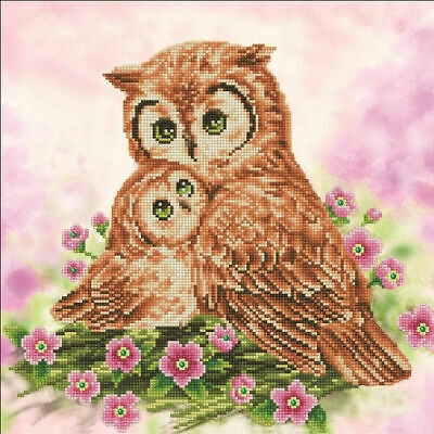 Diamond Dotz 5D Embroidery Facet Art Kit, Intermediate Mother & Baby Owl, BOXED