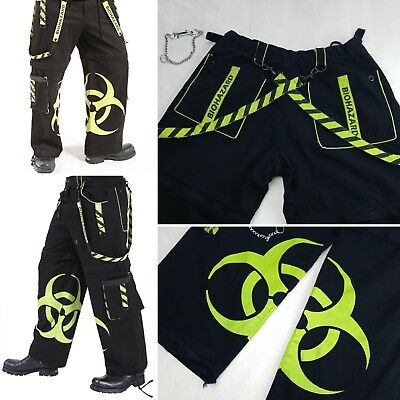 Dead Threads Shuffle Pants Green Cybergoth Rave EDM BIOHAZARD XL