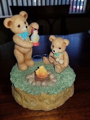 Teddy Tempo Music Box (Dad & son making s'mores)