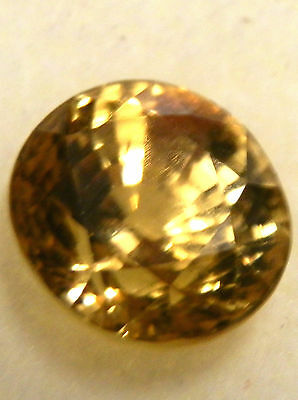 Natural earth-mined yellow zircon quality gem.. 7.6 carat