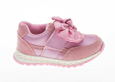 Girls pink trainers  bow  shoes