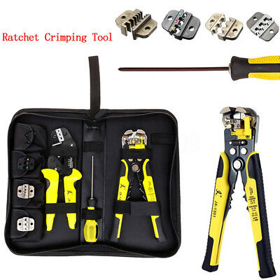 4 in 1 Multifunctional Wire Stripper Crimper Pliers Ratcheting Terminal Crimping