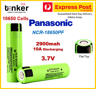 Panasonic NCR-18650-PF 3.7v 2900mah Lithium Ion Rechargeable Battery JAPAN