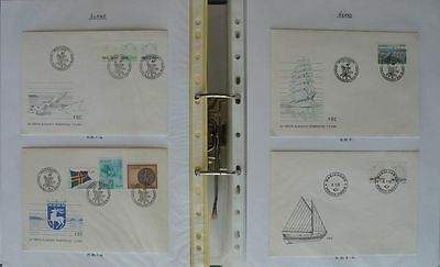 S1726) ALAND First day covers approx 250 FDC 1984 - 2012 and Ganzsachen