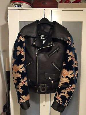 eb92b38dc29e  NWT  Junya Watanabe Comme Des Garcons Deconstructive Leather Jacket Large  Small