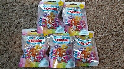 Brand New Series 4 Care Bears & Cousins 5 Sealed Mini Figures Blind Bag Easter