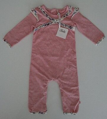 Bebe By Minihaha Jumpsuit NEW Maddy Stripe Size 0, 6-9 month
