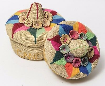 Hat Bread Baskets From Mexico - Set of 2