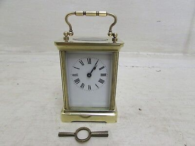 Antique 1890's Albert Villon French Carriage Clock Fully Working With Key