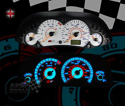 Ford Focus ST mk1 160mph interior speedo dash panel bulb lighting dial kit