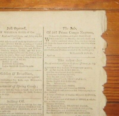 1804 Charleston Courier 8 Slave Ad's, 367 Prime Congo Slaves Sold Off Slave Ship