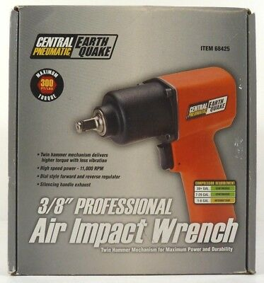 """""""NEW"""" Central Pneumatic Earthquake 3/8"""" Professional Air Impact Wrench 68425"""