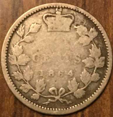 1864 NEW BRUNSWICK SILVER 10 CENTS - Scarce coin !