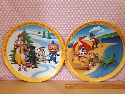 "Pair of McDonalds 10"" Melamine Plates Summer and Spring 1977"