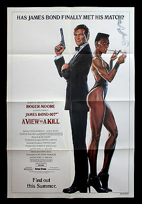 A VIEW TO A KILL orig 1985 US one sheet movie poster JAMES BOND 007 Roger Moore