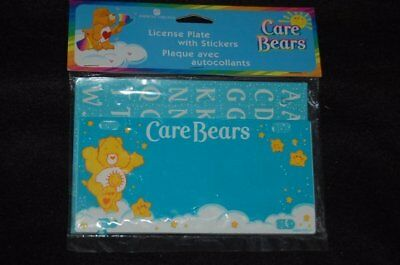 Brand New Vintage American Greetings CARE BEARS License Plate w/ stickers
