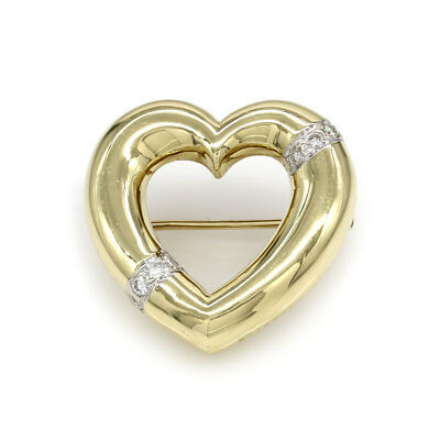 Tiffany & Co. Paloma Picasso Diamond Heart in 18K Yellow Gold Brooch | JH