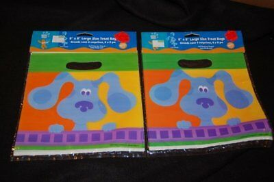 Awesome lot of 2 packs BLUE'S CLUES party favor treat bags 16 Vintage still seal