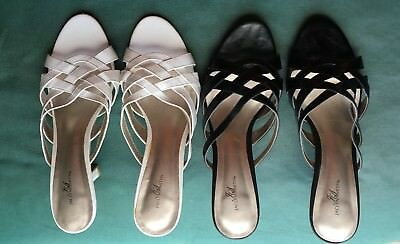 Lot of 2 EUC Sz 8.5 Jaclyn Smith Sandals.  Black and White. GR8 4 Spring!