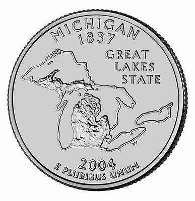2004 D Michigan State Quarter BU