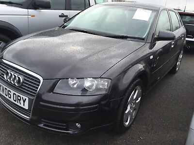 06 Audi A3 Sportback 2.0 Tfsi Quattro Leather Spares Or Repair, H/gasket Drives