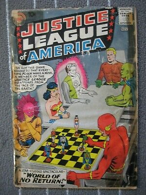 JUSTICE LEAGUE OF AMERICA #1  Wonder Woman Flash (DC 1960) POOR/FAIR(0.8)