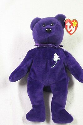 1st Edition Rare Princess Diana Beanie Baby In Nice Ty Case