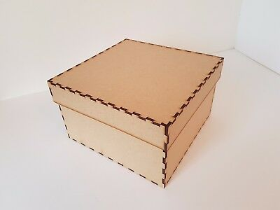Square Christmas Eve Gift Box And Lid Mdf Wood Decoupage Keepsake Laser Cut Kit