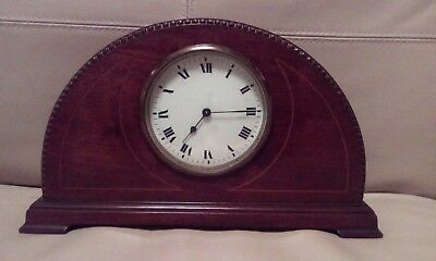 Antique/Vintage Edwardian Mahogany Inlaid Case Mantle French Movement Clock