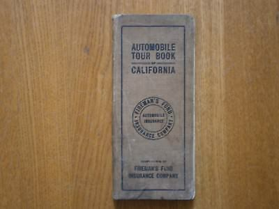 1916 Hardback Bound 137 Automobile Road Maps Of California Brass Era