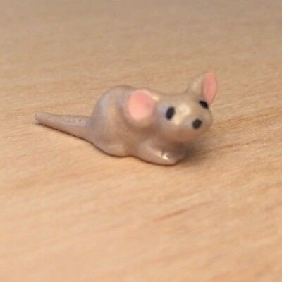 Vintage Hagen Renaker Ceramic Baby Mouse #180 Miniature Animal Figurine